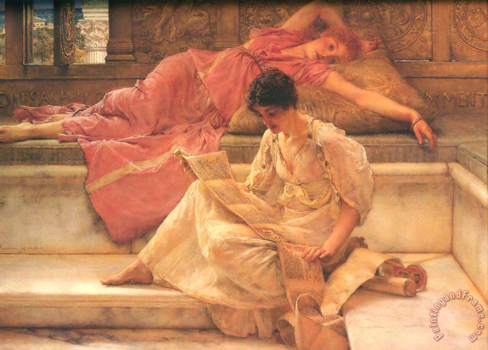 The Favourite Poet painting - Sir Lawrence Alma-Tadema The Favourite Poet Art Print