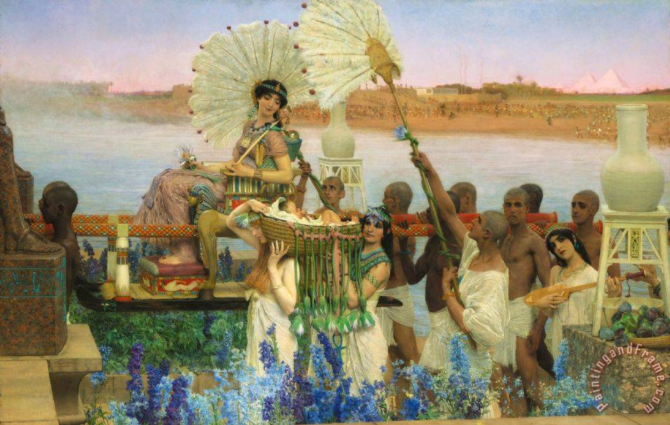 The Finding of Moses painting - Sir Lawrence Alma-Tadema The Finding of Moses Art Print