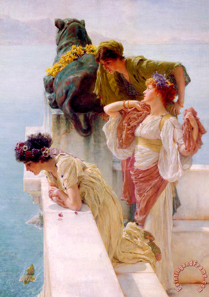 Sir Lawrence Alma-Tadema A Coign of Vantage Art Print