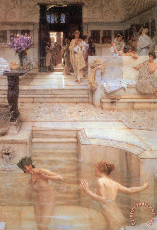 A Favorite Custom painting - Sir Lawrence Alma-Tadema A Favorite Custom Art Print