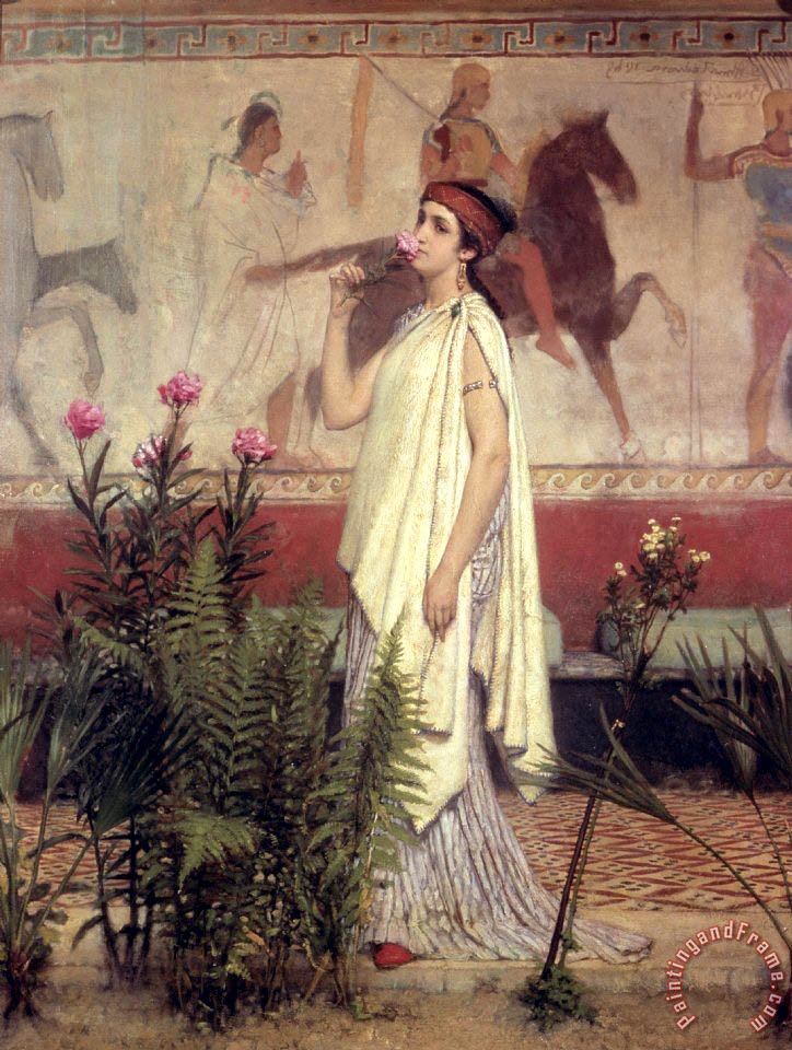 A Greek Woman painting - Sir Lawrence Alma-Tadema A Greek Woman Art Print