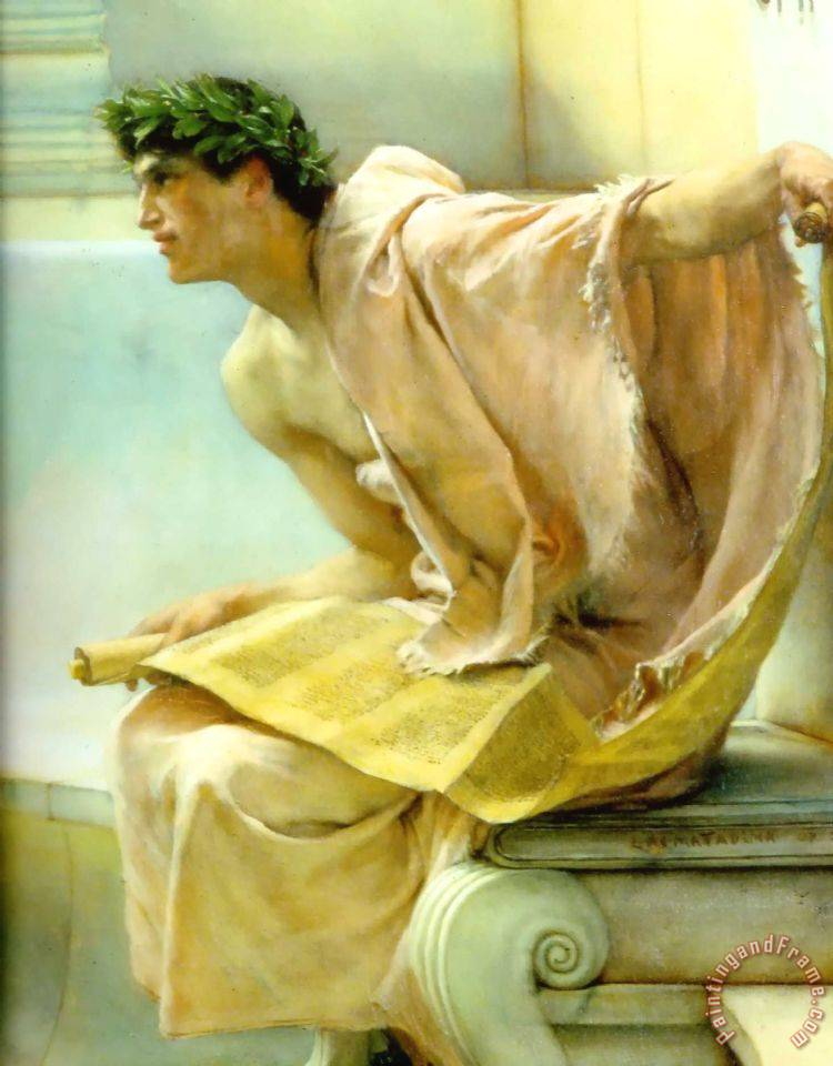 A Reading From Homer Detail painting - Sir Lawrence Alma-Tadema A Reading From Homer Detail Art Print