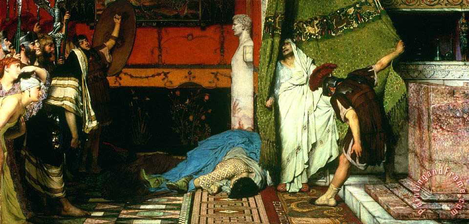 A Roman Emperor Claudius painting - Sir Lawrence Alma-Tadema A Roman Emperor Claudius Art Print