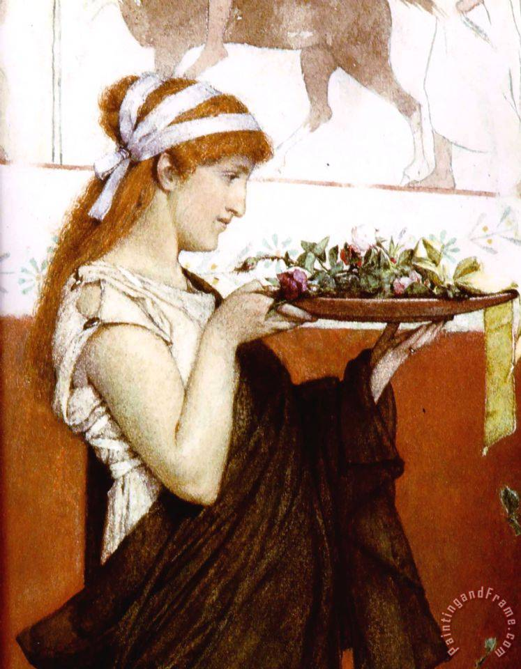 A Votive Offering Detail painting - Sir Lawrence Alma-Tadema A Votive Offering Detail Art Print