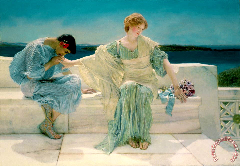 Sir Lawrence Alma-Tadema Ask me no more Art Print