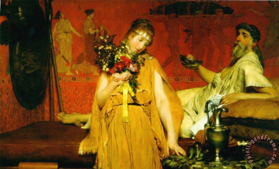Sir Lawrence Alma-Tadema Between Hope And Fear Art Print