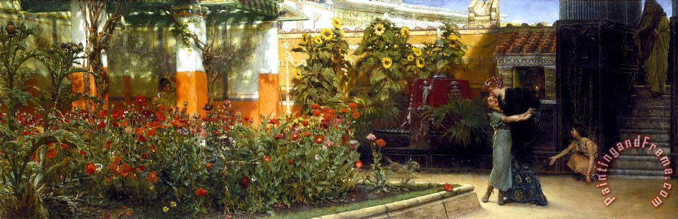 Corner of a Roman Garden painting - Sir Lawrence Alma-Tadema Corner of a Roman Garden Art Print
