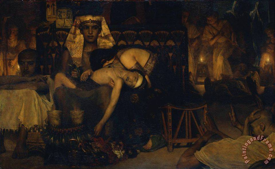 Death of The Pharaoh's Firstborn Son painting - Sir Lawrence Alma-Tadema Death of The Pharaoh's Firstborn Son Art Print