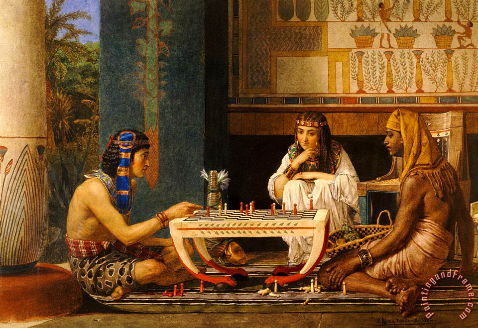Sir Lawrence Alma-Tadema Egyptian Chess Players Art Print