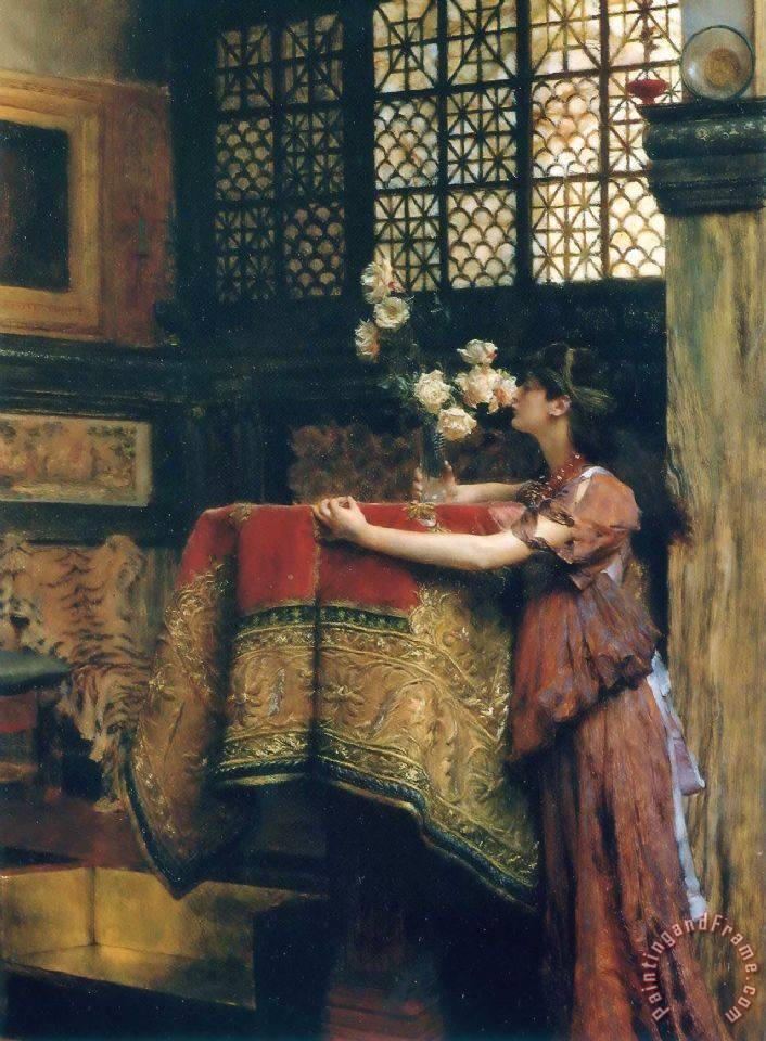 Sir lawrence alma tadema in my studio painting in my for Painting for sale by artist