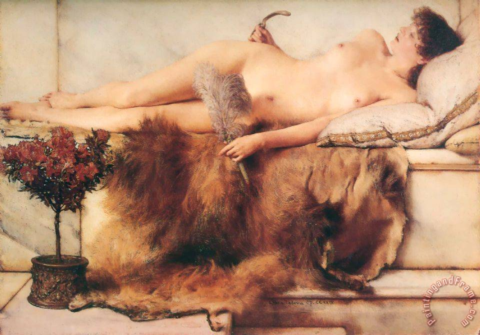 In The Tepidarium painting - Sir Lawrence Alma-Tadema In The Tepidarium Art Print