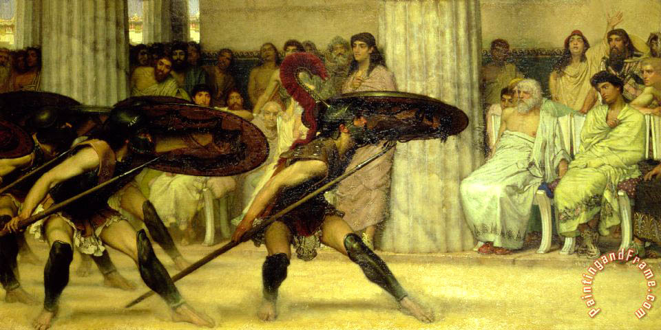Sir Lawrence Alma-Tadema Pyrrhic Dance Art Print