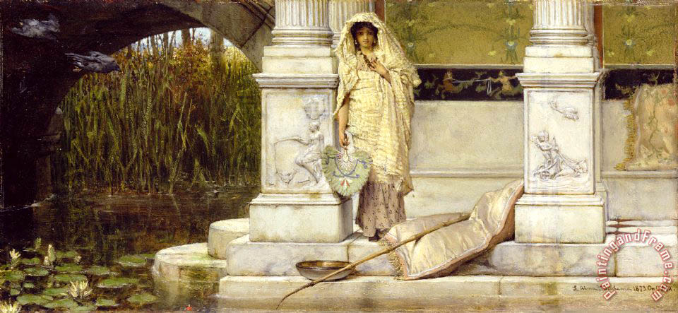 Roman Fisher Girl painting - Sir Lawrence Alma-Tadema Roman Fisher Girl Art Print
