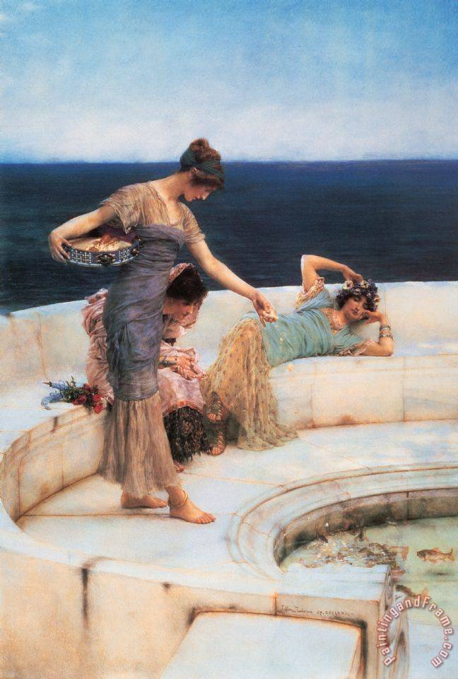 Silver Favorites painting - Sir Lawrence Alma-Tadema Silver Favorites Art Print
