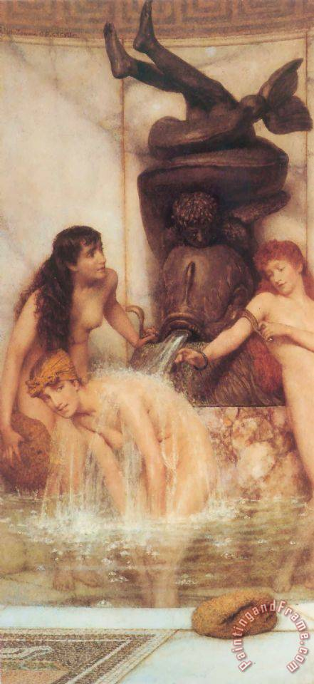 Strigils And Sponges painting - Sir Lawrence Alma-Tadema Strigils And Sponges Art Print