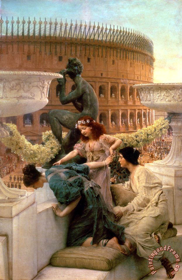 Sir Lawrence Alma-Tadema The Coliseum Art Print