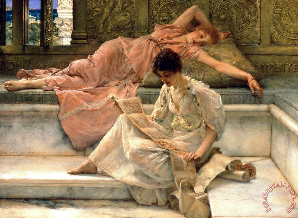 Sir Lawrence Alma-Tadema The Favourite Poet Art Print