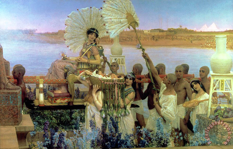 Sir Lawrence Alma-Tadema The Finding of Moses Art Print