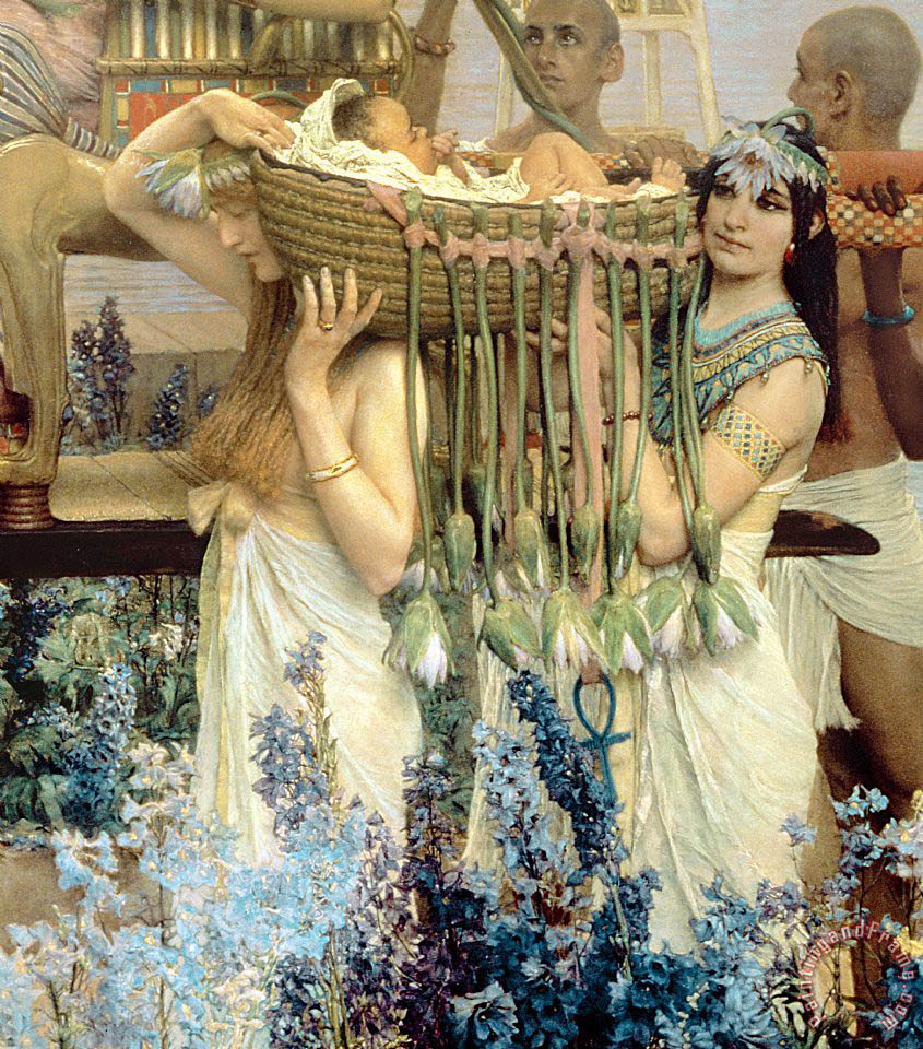 The Finding of Moses by Pharaoh's Daughter painting - Sir Lawrence Alma-Tadema The Finding of Moses by Pharaoh's Daughter Art Print