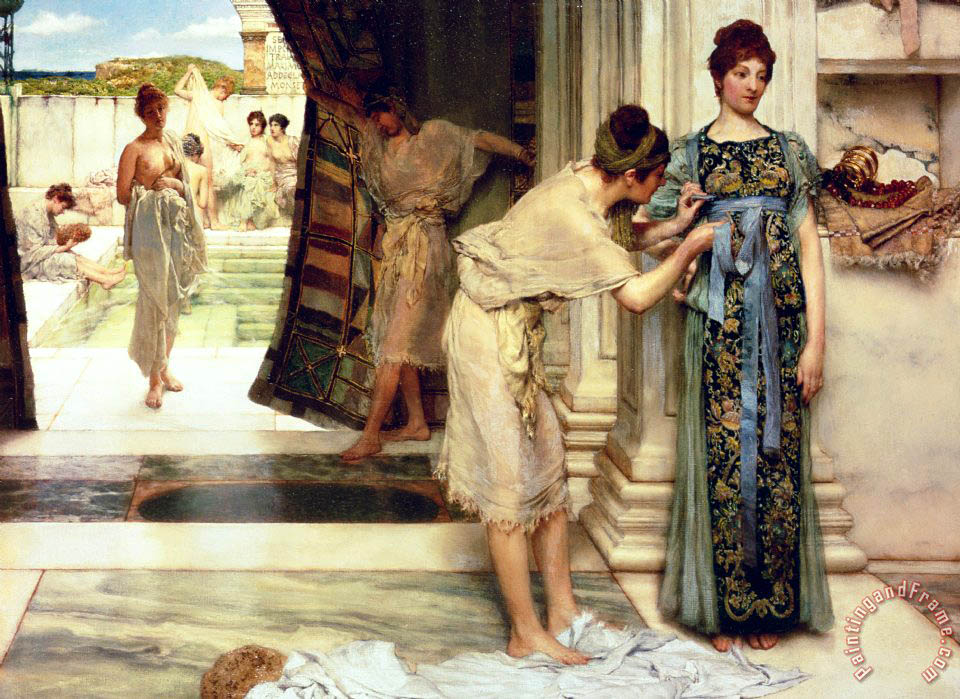 Sir Lawrence Alma-Tadema The Frigidarium Art Print
