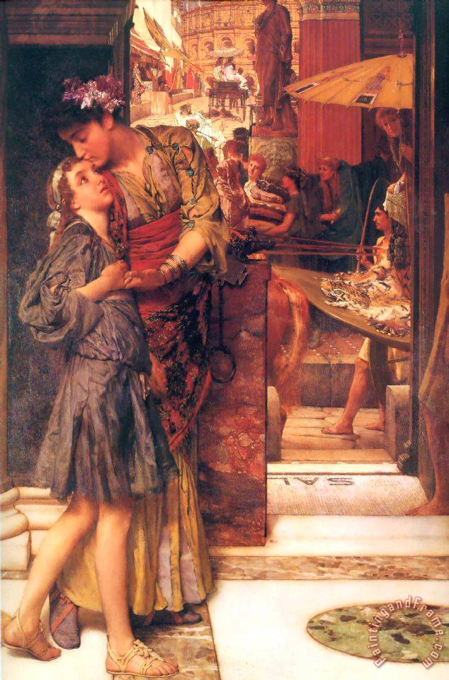 The Parting Kiss painting - Sir Lawrence Alma-Tadema The Parting Kiss Art Print