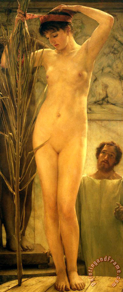The Sculptor's Model painting - Sir Lawrence Alma-Tadema The Sculptor's Model Art Print