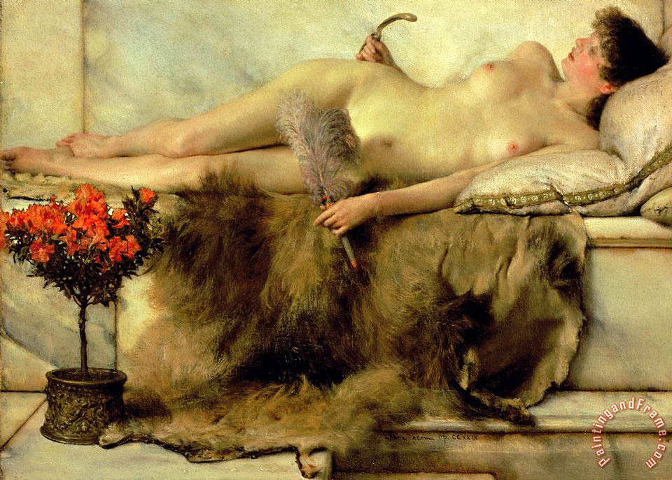 Sir Lawrence Alma-Tadema The Tepidarium Art Print