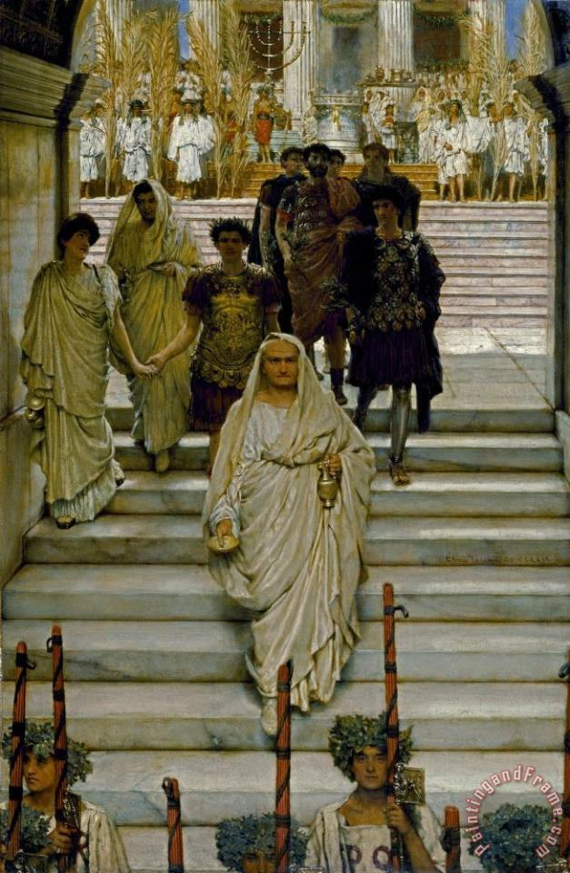 The Triumph of Titus painting - Sir Lawrence Alma-Tadema The Triumph of Titus Art Print