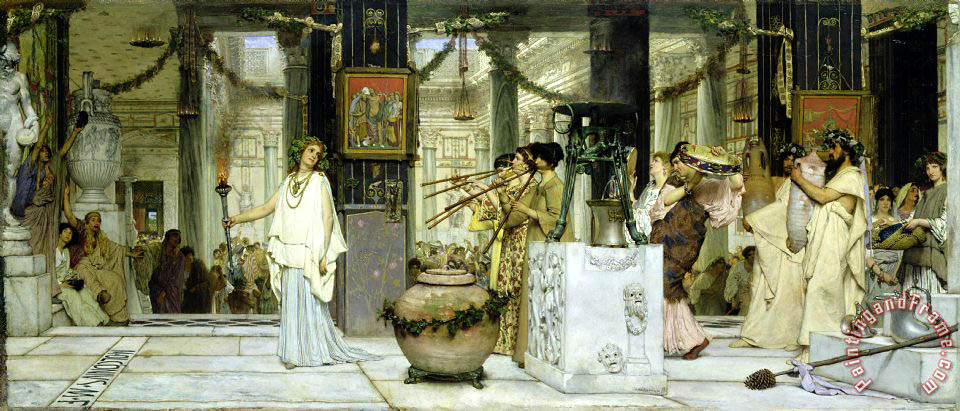 The Vintage Festival in Ancient Rome painting - Sir Lawrence Alma-Tadema The Vintage Festival in Ancient Rome Art Print