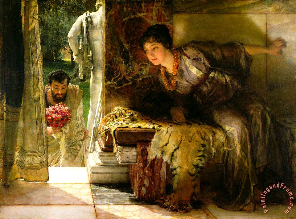 Sir Lawrence Alma-Tadema Welcome Footsteps Art Print