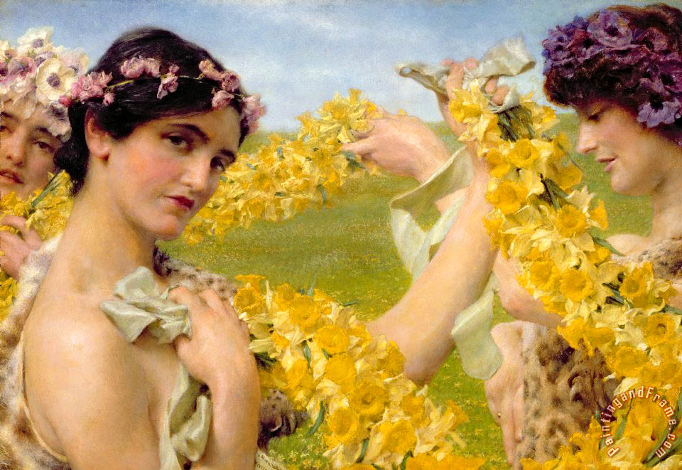 Sir Lawrence Alma-Tadema When Flowers Return Art Print