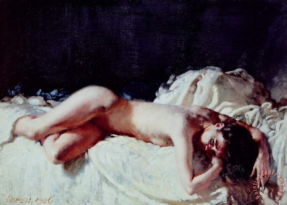Nude Study painting - Sir William Orpen Nude Study Art Print
