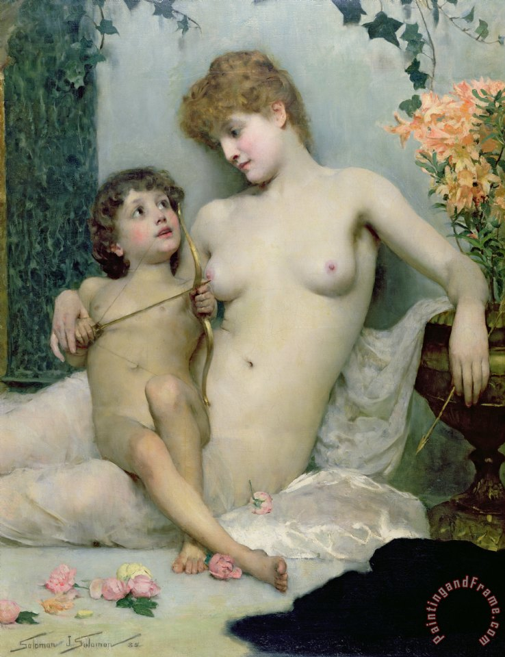 Solomon Joseph Solomon Venus and Cupid Art Print