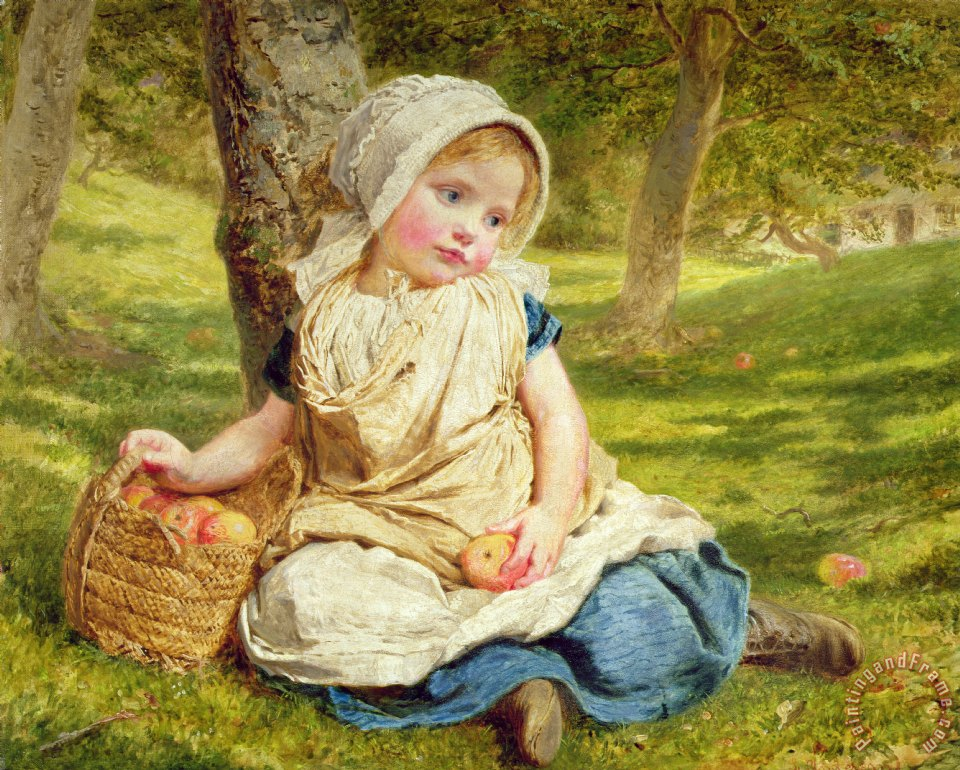 Sophie Anderson Windfalls Art Painting