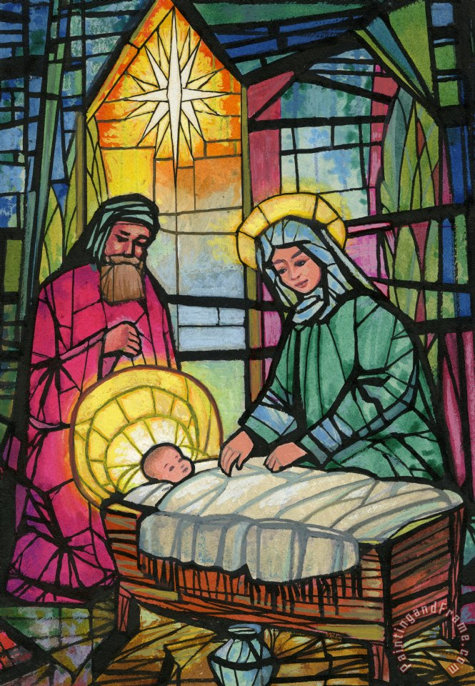 Nativity painting - Stanley Cooke Nativity Art Print