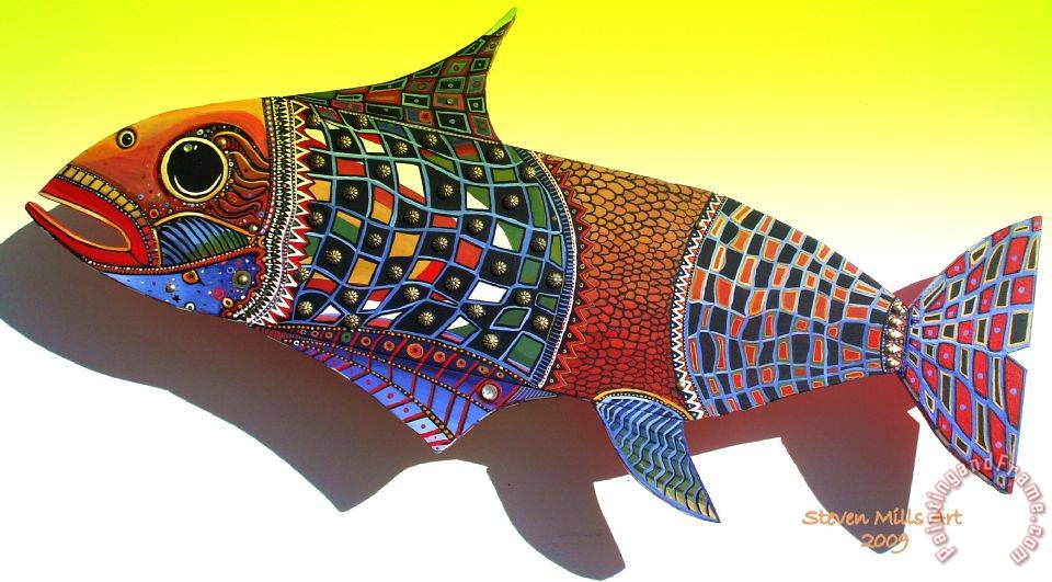 Fish Art painting - Steven Mills Fish Art Art Print