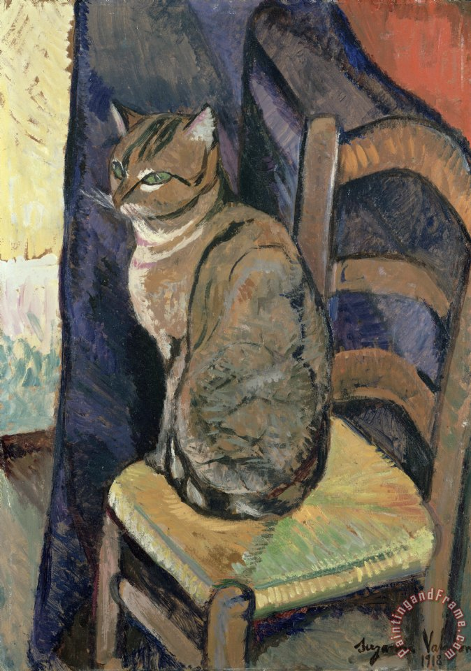 Study of A Cat painting - Suzanne Valadon Study of A Cat Art Print