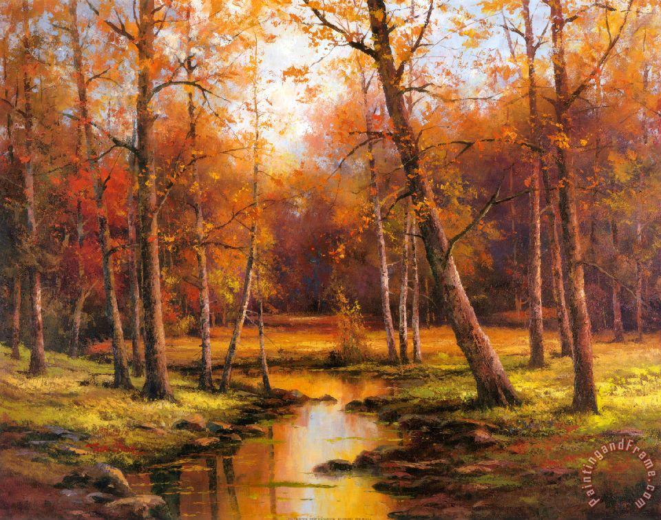 T C Chiu Meadow Stream Painting Meadow Stream Print