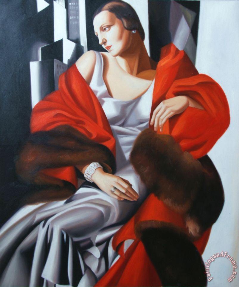 Tamara De Lempicka Portrait De Madame Boucard Painting