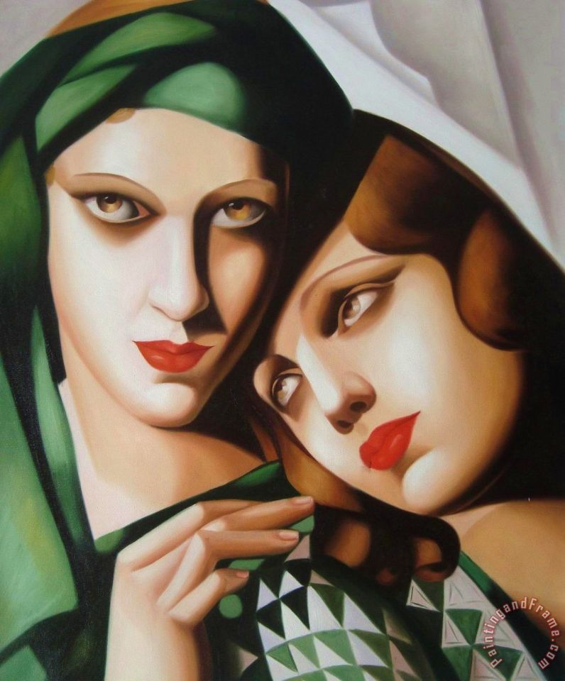 tamara de lempicka the green turban 1929 art painting for. Black Bedroom Furniture Sets. Home Design Ideas