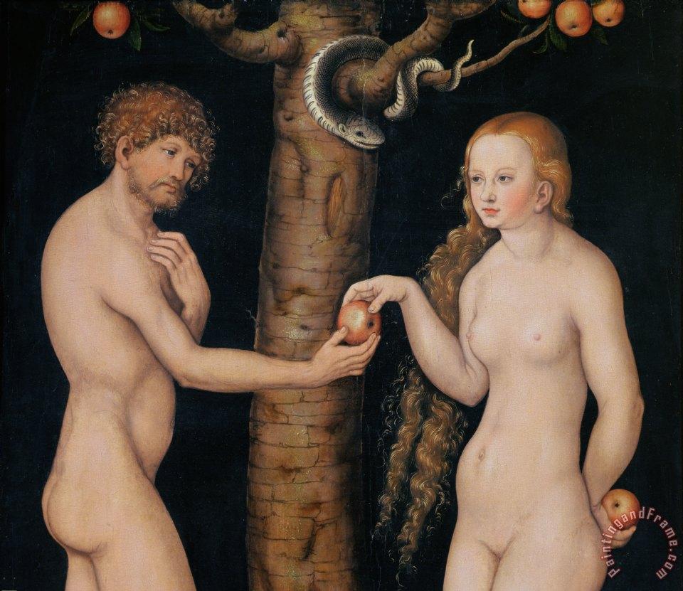 Cranach The Elder Adam And Eve The Elder Lucas Cranach Eve