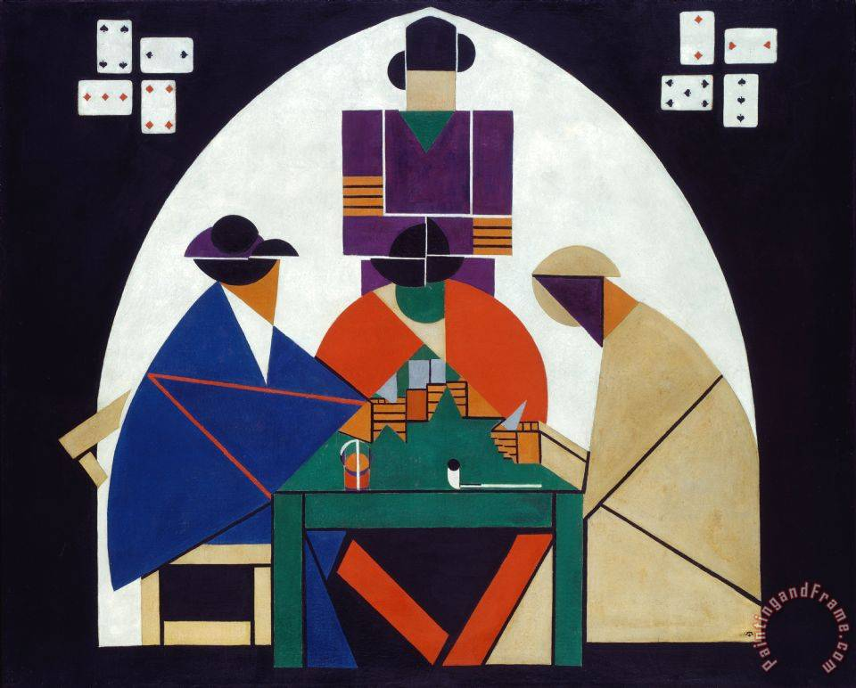 Theo van Doesburg Card Players Art Painting