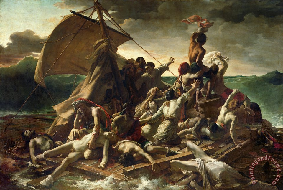 The Raft of the Medusa painting - Theodore Gericault The Raft of the Medusa Art Print