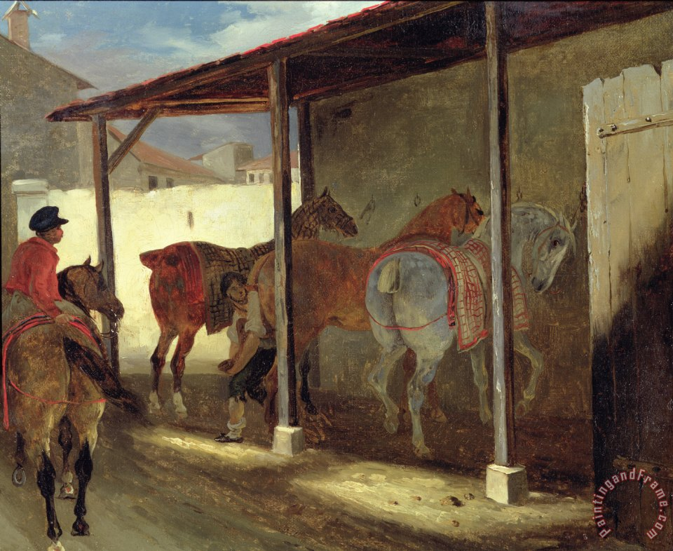 The Barn of Marechal-Ferrant painting - Theodore Gericault The Barn of Marechal-Ferrant Art Print