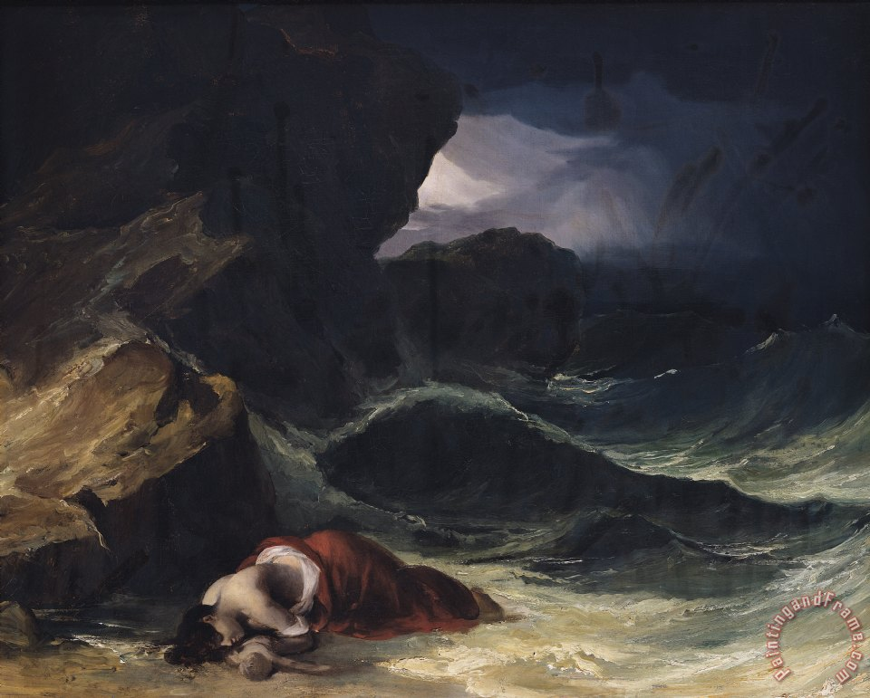 The Storm or The Shipwreck painting - Theodore Gericault The Storm or The Shipwreck Art Print