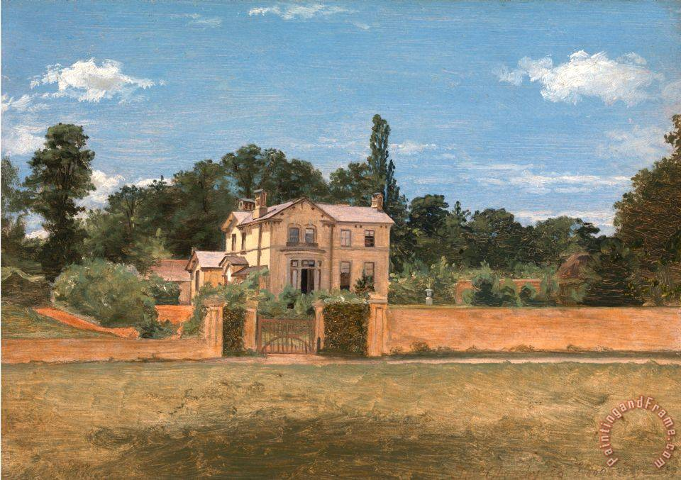 Thomas Churchyard House In Woodbridge Suffolk Painting