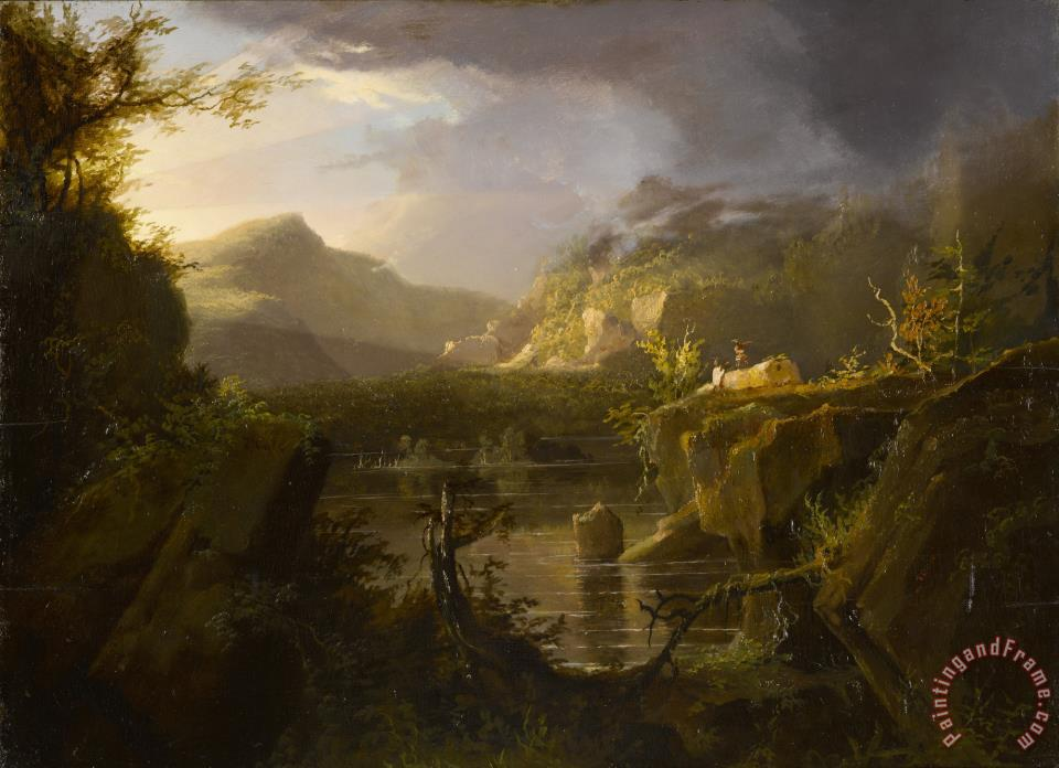 Thomas Cole Romantic Landscape Art Painting
