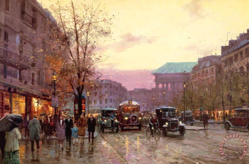 Thomas Kinkade Paris Twilight Painting Paris Twilight