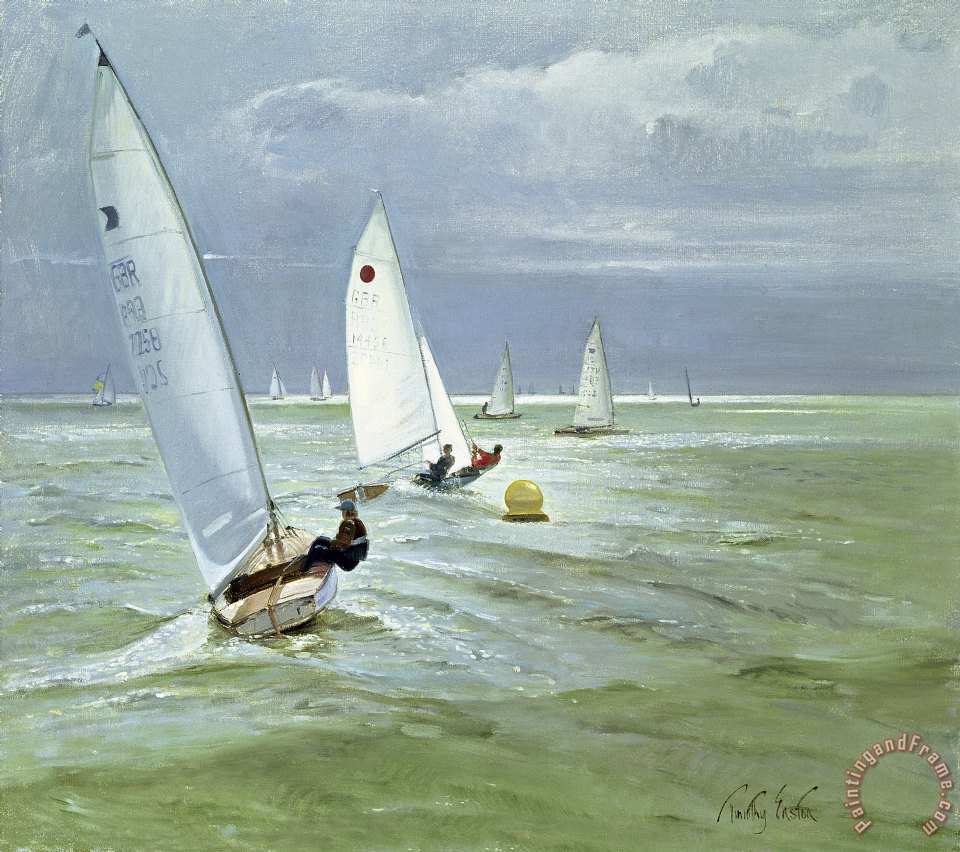 Around the Buoy painting - Timothy Easton Around the Buoy Art Print