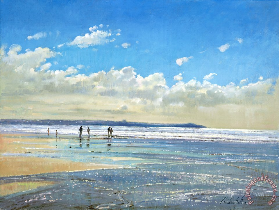 Paddling At The Edge painting - Timothy Easton Paddling At The Edge Art Print